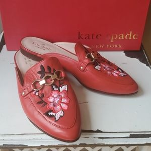 Kate Spade Red Cosetta Too Mules